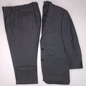 Ermenegildo Zegna 44L Suit Birdseye 3 Button Wool